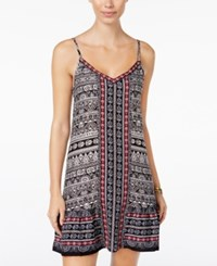 American Rag Printed Slip Dress Only At Macy's Classic Black Combo