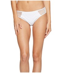Kenneth Cole Wrapped In Love Hipster Bottom White Women's Swimwear