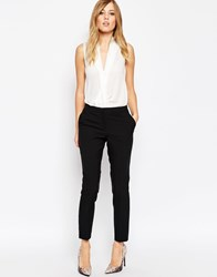 Asos Skinny Fit Ankle Grazer Trousers Black