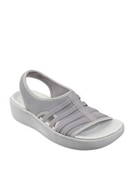 Easy Spirit Boatyard Slingback Platform Sandals Light Grey