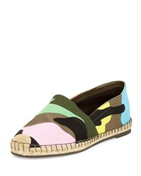 Valentino Psychedelic Camo Print Flat Espadrille