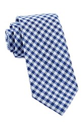 Alara Staple Silk Check Tie Blue
