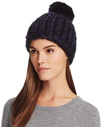 Echo Chunky Beanie With Pom Pom Black Charcoal