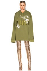 Fenty By Puma Embroidered Graphic Hoodie In Floral Green Pink Floral Green Pink