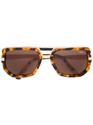 Cazal Tortoiseshell Effect Sunglasses Brown