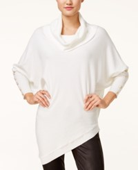 Xoxo Juniors' Asymmetrical Dolman Sleeve Sweater Ivory