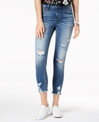 American Rag Juniors' Ripped Raw Edged Skinny Jeans Cole
