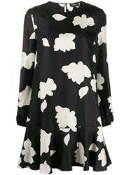 Theory Petal Print Flared Dress 60