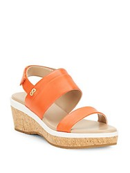 Cole Haan Thandie Grand Open Toe Leather Sandals Spicy Orange