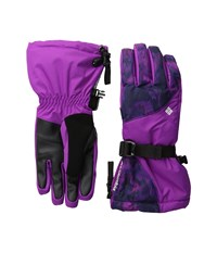 Columbia Whirlibird Iii Glove Bright Plum Floral Print Extreme Cold Weather Gloves Purple