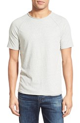 Men's John Varvatos Star Usa Short Sleeve Raglan Crewneck T Shirt Zinc