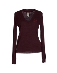 Franklin And Marshall Sweaters Maroon