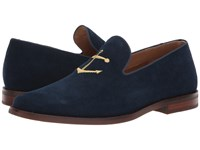 Sperry Overlook Textile Smoking Slipper Navy Corduroy Shoes Blue