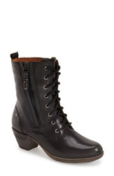 Pikolinos Women's 'Rotterdam' Lace Up Boot Black Leather