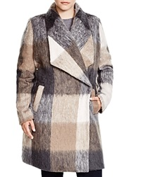 Mynt 1792 Plaid Shawl Collar Coat