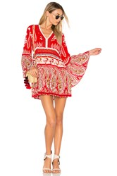 Raga Luisa Long Sleeve Tunic Red