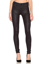 Joe's Jeans Textured Leather Hello The Icon Skinny Black