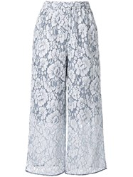 Loveless Floral Palazzo Pants White