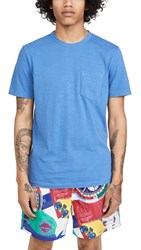 Faherty Sunwashed Pocket Tee Cobalt