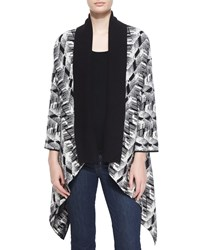 Neiman Marcus Cashmere Collection Geometric Print Intarsia Cashmere Cardigan Women's