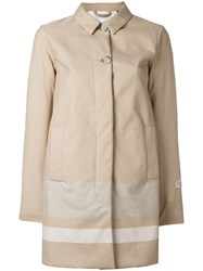 Woolrich Buttoned Mid Coat Nude Neutrals