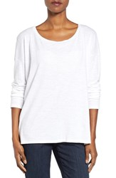 Eileen Fisher Women's Slub Jersey Ballet Neck Top White
