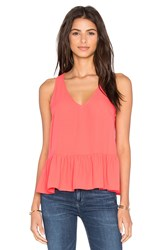 Eight Sixty Ruffle Tank Coral