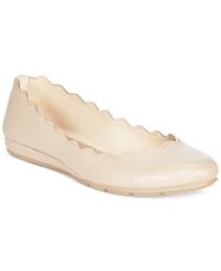 American Rag Erin Scalloped Ballet Flats Only At Macy's Women's Shoes Nude Smooth