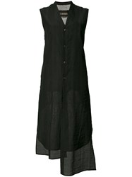Uma Wang Long Sleeveless Shirt Black