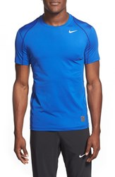 Nike Men's 'Pro Cool Compression' Fitted Dri Fit T Shirt Game Royal Royal Blue White