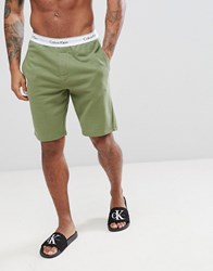 Calvin Klein Modern Cotton Lounge Shorts Green