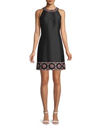 Kate Spade Mosaic Embellished Shift Dress Black