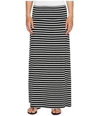 Calvin Klein Striped Maxi Skirt Black White Women's Skirt