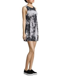 Alice Olivia Bryanna Tie Dye Tank Dress Black White