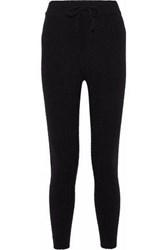 Love Stories Casey Ribbed Knit Track Pants Black