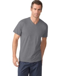 Alfani Men's V Neck T Shirt Only At Macy's Charcoal Grey Heather