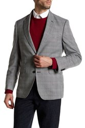 Tommy Hilfiger Black Glenplaid Two Button Notch Lapel Jacket Gray