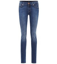 7 For All Mankind Roxanne Slim Illusion Jeans Blue