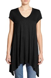 Junior Women's Sun And Shadow Pocket Long Tee
