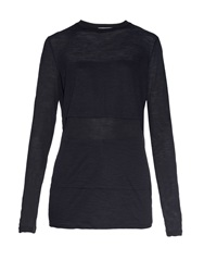 Raey Sheer Panelled Long Sleeved T Shirt