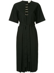 Ports 1961 O Ring Detail Belted Dress Black