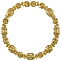 Eclectica Vintage 1970S Grosse Gold Plated Structured Necklace Gold