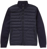 Ralph Lauren Purple Label Quilted Shell And Wool Blend Jacket Midnight Blue