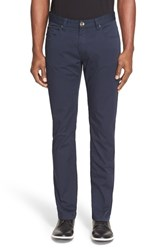 Men's Armani Collezioni Straight Leg Five Pocket Pants Sea Blue P