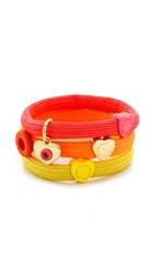 Marc By Marc Jacobs Hole Hearted Cluster Pony Holders Bright Rose Multi