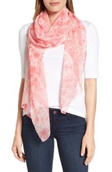 Echo Women's Painted Tile Silk Scarf Hibiscus Pink