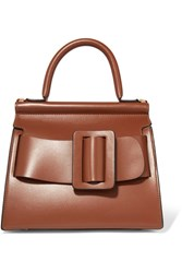 Boyy Karl 24 Small Buckled Leather Tote Brown