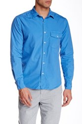 Save Khaki Poplin Work Classic Fit Shirt Blue
