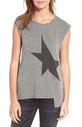 Pam And Gela Women's Star Asymmetrical Muscle Tee