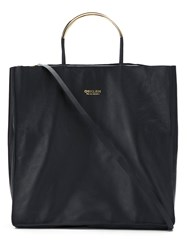 Osklen Leather Tote Bag Black